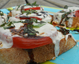 Open-Faced Balsamic Caprese Sandwiches
