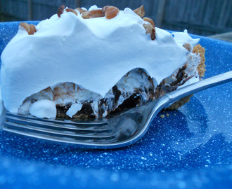 Dark Chocolate Salted Caramel Creme Pie