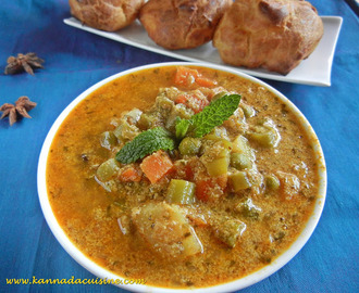 KANNADA CUISINE vegetable kurma