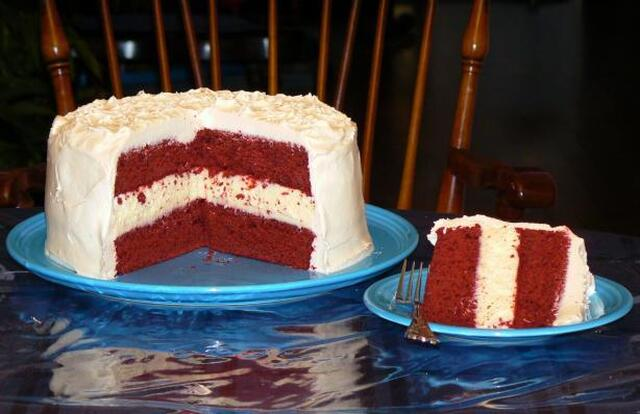 Red Velvet Cheesecake Cake- Cheesecake Factory Copycat