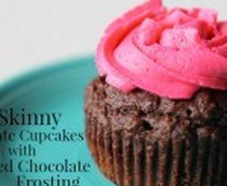 Skinny Chocolate Cupcakes with Whipped Chocolate Frosting