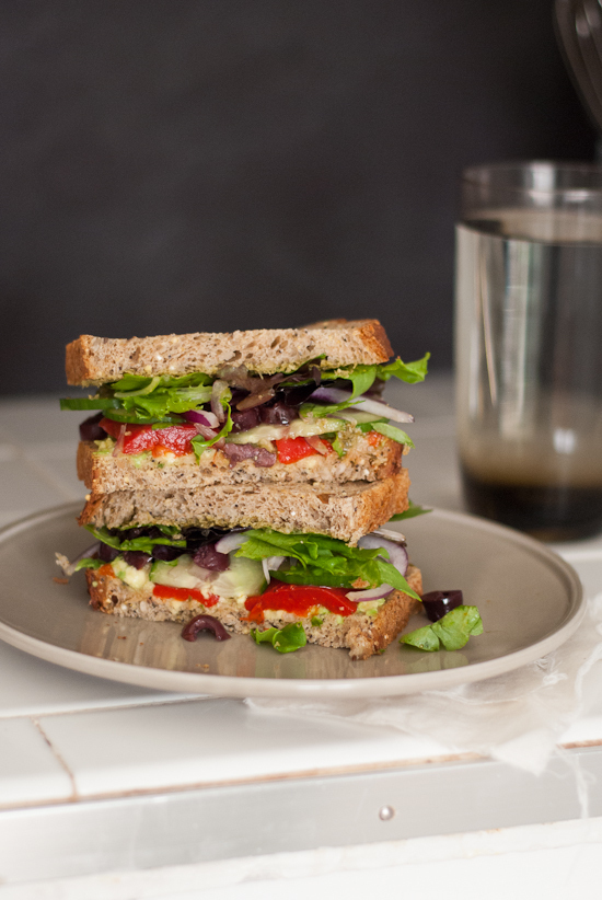 Simple Greek Avocado Sandwich (and a Panera contest)