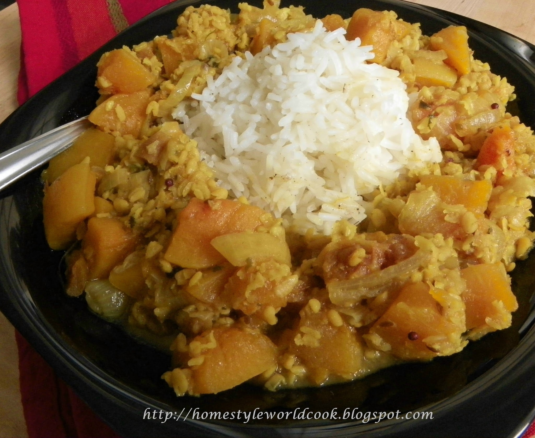 Squash Dal Curry