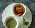 Coriander, Mint and cashew nut dip