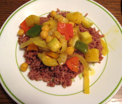 Sweet Vegetable Curry (with eggplant)