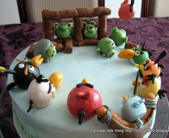 Angrybirds Fondant Cake - Renee 10th Birthday