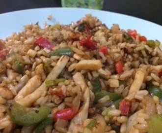 "Arroz Integral con verduras y pollo ""Express"""