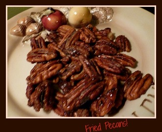 Candied Honey Pecans:        Seasoned with some bite!