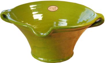 Keramikskål limegrön