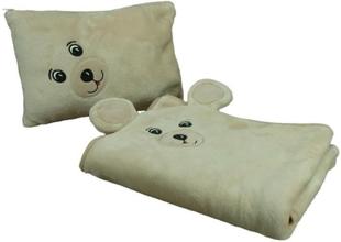 Babyfilt 75x100cm Björnformad (Ficelle)