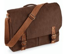 Vintage Canvas Satchel Messenger Vintage Brown
