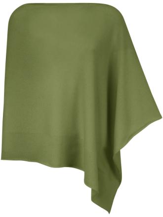 Poncho i 100% kashmir från Peter Hahn Cashmere grön