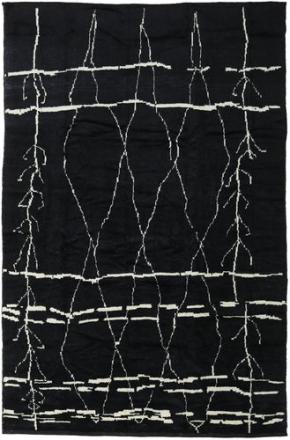 Handknotted Berber Shaggy matta 271x416 Modern Matta