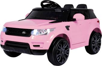 Elbil för barn 12V - Rosa SUV 2x25W