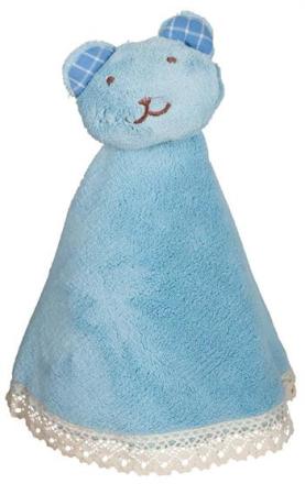 Snutte - Ljusblå snutte med nallehuvud