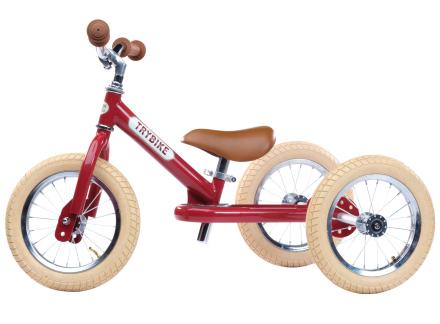 Trybike trehjuling och balanscykel (3 hjul, stål, röd)