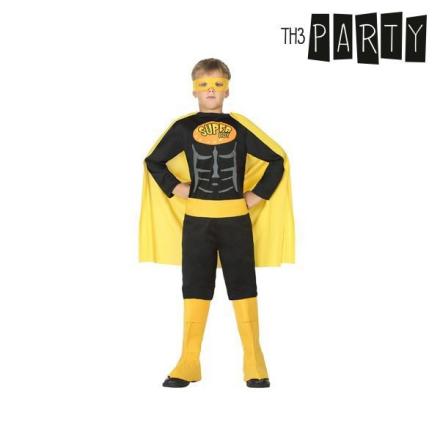 Maskeraddräkt för barn Th3 Party Superhjälte Svart - 10-12 år