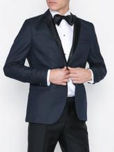Selected Homme Slhslim-Ryanlogan Navy Struc Tux Bl Kavajer & kostymer Mörk Blå