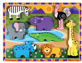 Safaripussel med stora bitar (8 bitar)