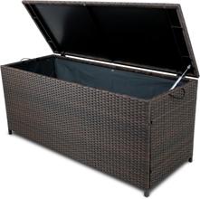 Dynbox i konstrotting till utemöbler - Brun
