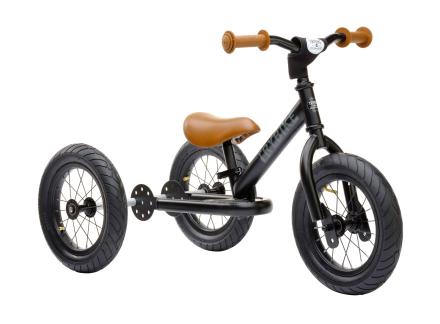 Trybike trehjuling och balanscykel (3 hjul, stål, svart)