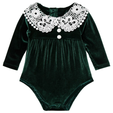 The Tiny UniverseTiny Victorian Baby Body Deep Green1-2 yrs (92)