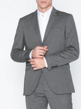 Selected Homme Slhslim-Mylologan Dk Gr Struc Blz B Kavajer & kostymer Mörk Grå