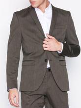 Selected Homme Slhslim-Mylologan Brown Blazer B Kavajer & kostymer Mörk Brun