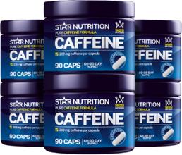 Caffeine 200mg BIG BUY, 540 caps, 90 caps