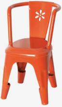 Metallstol i metall, orange