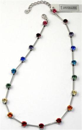 Halsband i regnbågsfärger SP