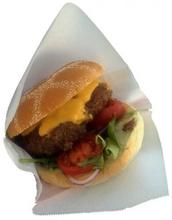 Hamburgerficka vit stor 25 st