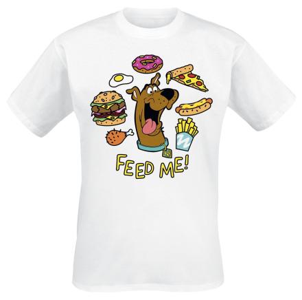Scooby Doo - Feed Me - T-shirt - Herr-T-shirt - vit