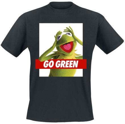 Mupparna - Kermit Go Green - T-shirt - Herr-T-shirt - svart