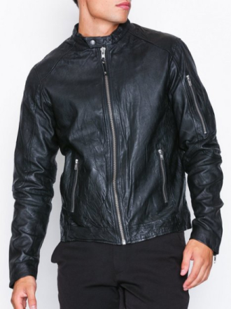 Premium by Jack & Jones Jprrichard Clean Leather Jacket Sts Kavajer & kostymer Svart