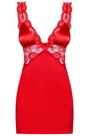 Obsessive Secred Chemise & Thong Red L/XL
