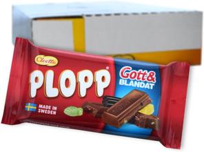 "Hel Låda Choklad ""Plopp"" Gott & Blandat 30 x 40g - 59% rabatt"