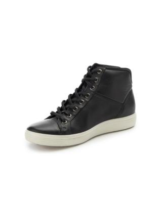 Ankelhöga sneakers för kvinnor, modell Soft 7 från Ecco svart