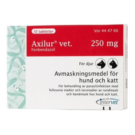 Axilur vet., tablett 250 mg 10 st
