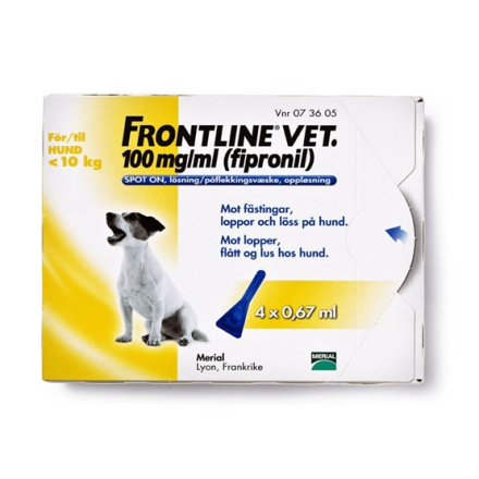 Frontline vet., spot-on, lösning 100 mg/ml 4 x 0,67 ml