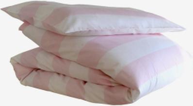 Frank bäddset vagga/barnvagn, rosa/vit