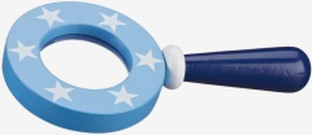 Förstoringsglas star, blå