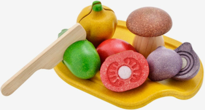 Grönsaker på skärbräda, eko
