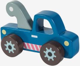 Bärgningsbil i trä, blå