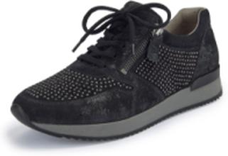 Sneakers applicerade glitternitar från Gabor svart