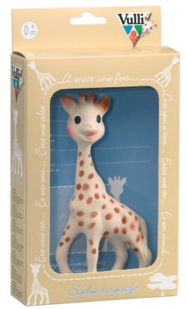 Giraffen Sophie i presentask