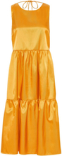 Y.A.S Lagersydd Midiklänning Kvinna Guld
