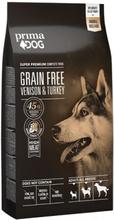 Prima Dog Adult All Breeds Sensitive Hjort & Kalkon, Spannmålsfritt