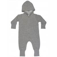 Baby All-in-One Washed Grey Melange