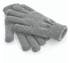 Touch Screen Smart Gloves Grey